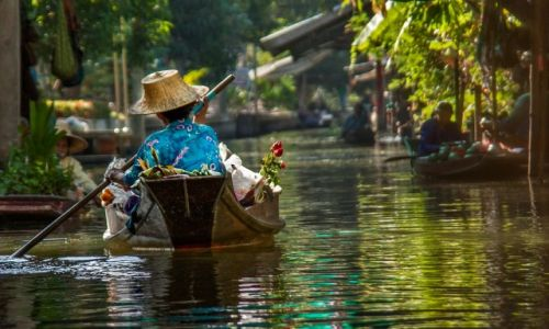 TAJLANDIA / Damnoen Saduak / Damnoen Saduak / Floating Market