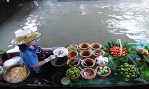 Zdjecie TAJLANDIA / Damnoen Saduak / Floating market / czysto, ładnie i smacznie