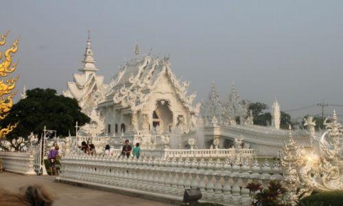 Zdjecie TAJLANDIA / Okolice Chiang Rai / Wat Rong Kun / Biała świątynia