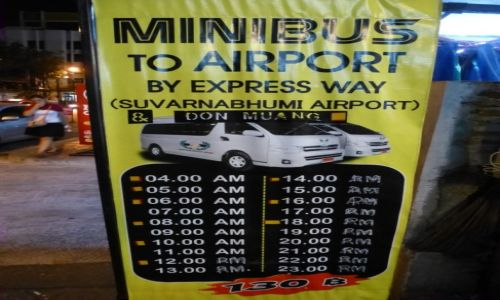 Zdjecie TAJLANDIA / Bangkok / Khao San / Bangkok Khao San - transfer na lotnisko- godz. i cena