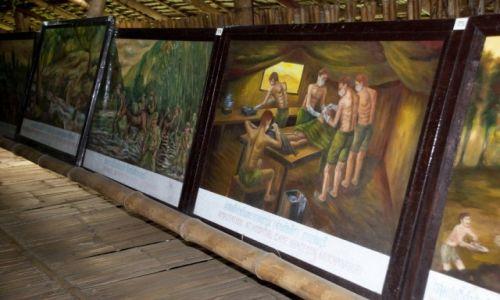 Zdjęcie TAJLANDIA / Kanchanaburi / Kanchanaburi / Obrazy w Muzeum Wojennym JEATH