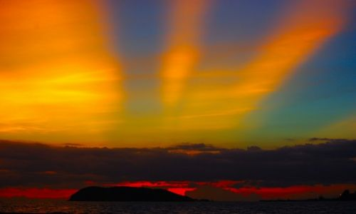 Zdjecie TAJLANDIA / Koh Phangan / Koh Phangan / Zachód słońca nad Koh Phangan