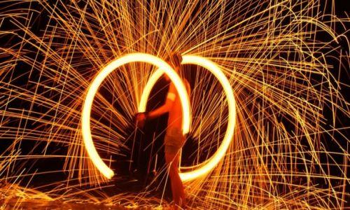 Zdjęcie TAJLANDIA / Koh Phi Phi / Koh Phi Phi Beach / Fire Show