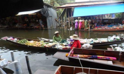 Zdjecie TAJLANDIA / Damnoen Saduak / pływający targ / pływający targ