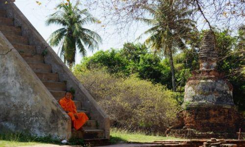 Zdjęcie TAJLANDIA / - / Ajutthaja / Odpoczywając w cieniu.