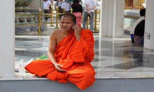 Zdjecie TAJLANDIA / Bangkok / Wielki Pałac / Mnich