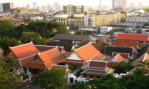 Zdjęcie TAJLANDIA / Bangkok / Bangkok / panorama Bangkoku ze Złotej Góry