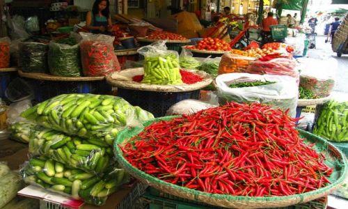 Zdjecie TAJLANDIA / Bangkok / Bangkok / targ kwiatowo - warzywny