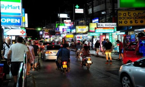 TAJLANDIA / Phuket / Patong / Patong City at night