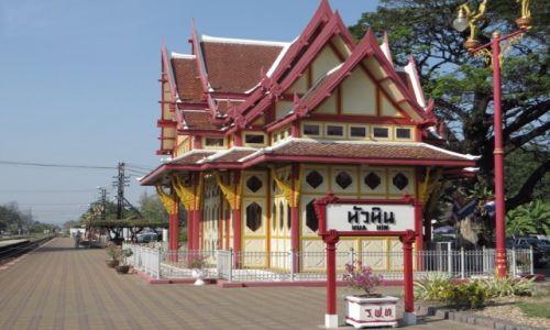 Zdjęcie TAJLANDIA / Zatoka Tajlandzka / Hua Hin / dworzec kolejowy - pawilon królewski