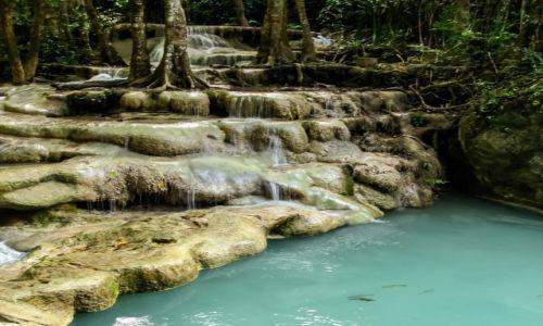Zdjęcie TAJLANDIA / Tajlandia / Tajlandia / Wodospady Erawan (3)