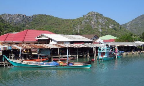 Zdjęcie TAJLANDIA / Zatoka Tajlandzka / okolice Hua Hin / wioska rybacka