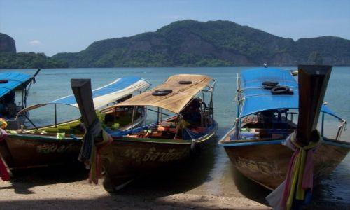 Zdjecie TAJLANDIA / Tajlandia / Wyspa JB / Wyjątkowe łódeczki