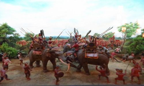 Zdjęcie TAJLANDIA / Bangkok / Muzeum Narodowe / makieta bitwy pod miastem Tak w 1257 r.