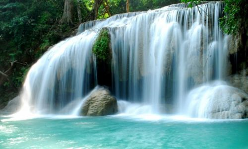 Zdjecie TAJLANDIA / National Park Erawan / National Park Erawan / waterfall