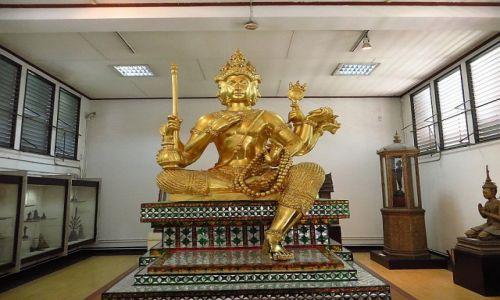 Zdjęcie TAJLANDIA / Bangkok / Muzeum Narodowe / posąg Brahmy