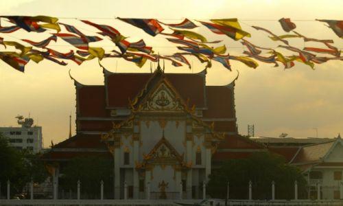 Zdjecie TAJLANDIA / - / Bangkok / Bangkok, rzeka, zachód słońca :)