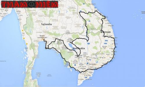 TAJLANDIA / Tajlandia / Tajlandia / Tham Hiem - mapa