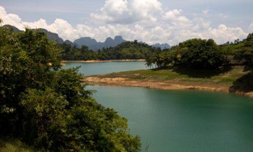 Zdjecie TAJLANDIA / Tajlandia / Jezioro Ratchaprapha / Jezioro