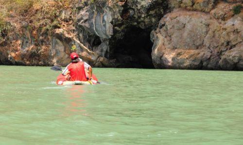 Zdjęcie TAJLANDIA / Prowincja Phuket / Phuket / Kajakiem  do jaskini Małp