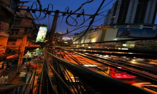 Zdjecie TAJLANDIA / bangkok / bangkok / miasto nocą