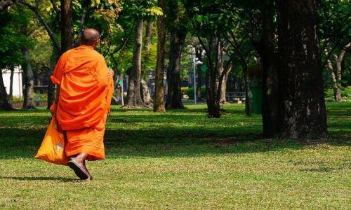 Zdjecie TAJLANDIA / Bangkok  / Park / mnich
