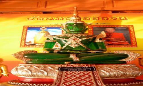 Zdj�cie TAJLANDIA / Phuket / Pobli�e p�ywaj�cego targu - Damnoen Saduak / Zielony Budda