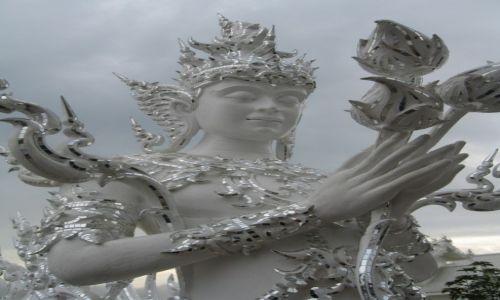 Zdjęcie TAJLANDIA / - / Chiang Rai / Fragment Białej Świątyni