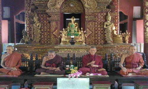 Zdjecie TAJLANDIA / Chiang Mai / Chiang Mai / Zielony Budda
