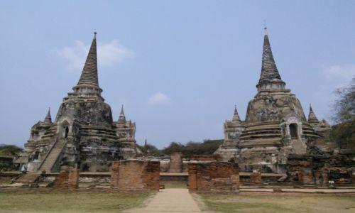 Zdjęcie TAJLANDIA / Ayutthaya / Ayutthaya / Zabytkowe chedi z Ayutthaya