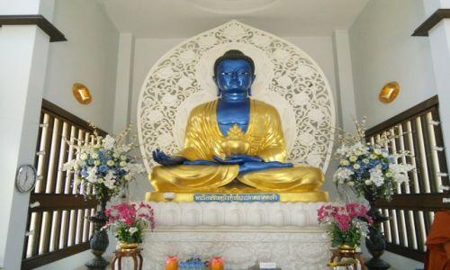 Zdjęcie TAJLANDIA / Nakhon Pathom / Nakhon Pathom / Niebieski Budda