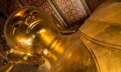 Zdjecie TAJLANDIA / Bangkok / Wat Po / Spoczywający Budda