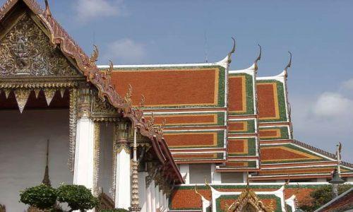 Zdjecie TAJLANDIA / brak / Bangkok / Charakterystyczne dachy