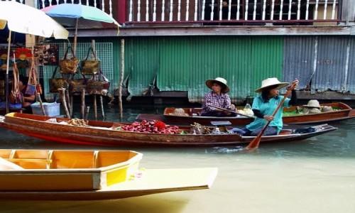 Zdjęcie TAJLANDIA / Ratchaburi / Damnoen Saduak / Straganiki na łódkach