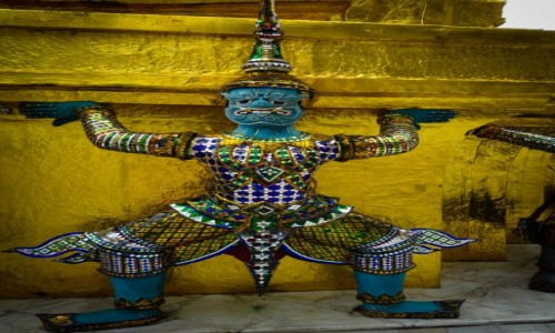Zdjęcie TAJLANDIA / Bangkok / Wat Pho / Strażnik świątyni