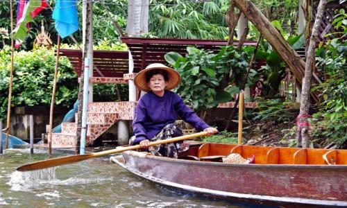 Zdjecie TAJLANDIA / Ratchaburi  / Damnoen Saduak / Na zakupy