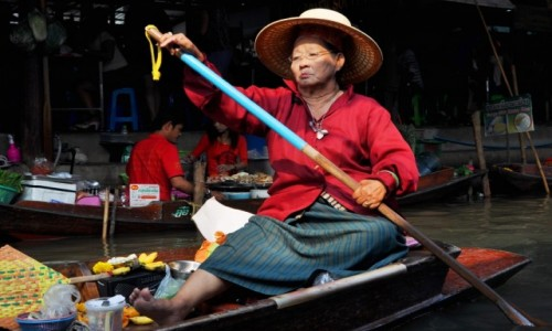 Zdjecie TAJLANDIA / Bangkok / targ wodny / Na targu wodnym