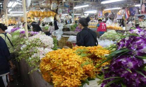 Zdjecie TAJLANDIA / - / Pak Klong Talad- targ kwiatów w Bangkoku / Pak Klong Talad- targ kwiatów w Bangkoku