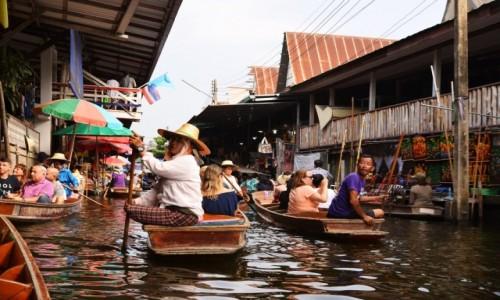 Zdjęcie TAJLANDIA / okolica Bangkoku / Damnoen Saduak / Pływający targ