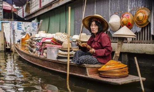Zdjecie TAJLANDIA /  okolica Bangkoku   / Damnoen Saduak  / Pływający targ