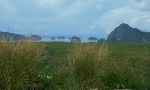 Zdjecie TAJLANDIA /  Ao Phang-nga /  Ao Phang-nga / Widok z lądu(punkt widokowy) na Ao Phang-nga