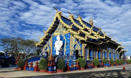 TAJLANDIA / Prowincja Chiang Rai  / Okolica Chiang Rai  / Blue Temple