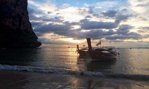 TAJLANDIA / Krabi / Ton Sai / O zachodzie słońca