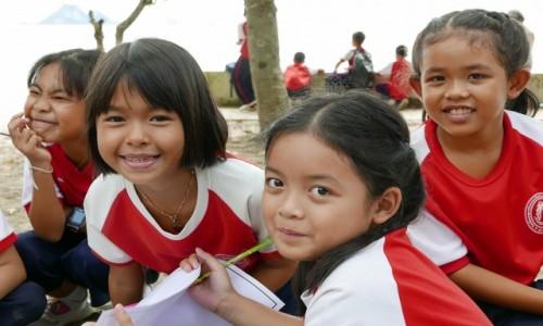 Zdjęcie TAJLANDIA / Krabi / Ao Nang / Lekcja plastyki.