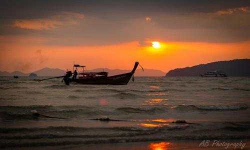 Zdjęcie TAJLANDIA / Krabi / Ao Nang Beach / Zachód słońca