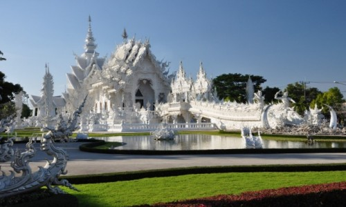 Zdjecie TAJLANDIA / Chiang Rai / Chiang Rai / Biała świątynia