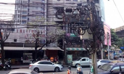 Zdjecie TAJLANDIA / BANGKOK / Bangkok / schemat instalacji elektrycznej wersja azjatycka
