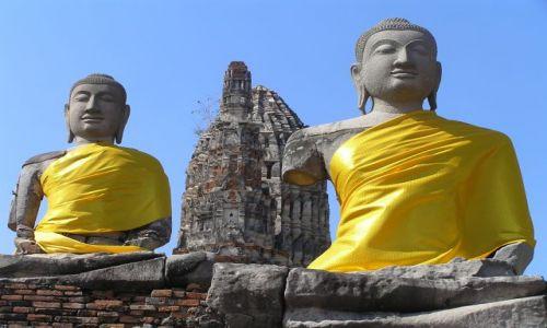 Zdjecie TAJLANDIA / Ajutthaja / Wat Chai Wattanaram / budda