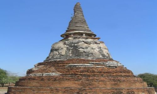 Zdjęcie TAJLANDIA / Ajutthaja /  Wat Phra Mahathat / stupa