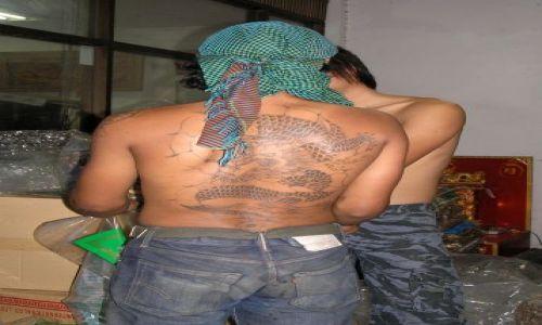 Zdjecie TAJLANDIA / Bangkok / chinatown /  tatuaż